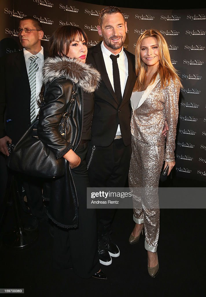 Simone Thomalla, Michael Michalsky and Sophia Thomalla attend the Michalsky Style Nite Autumn/Winter 2013/14 Show at the Mercedes-Benz Fashion Week at Tempodrom on January 18, 2013 in Berlin, Germany.