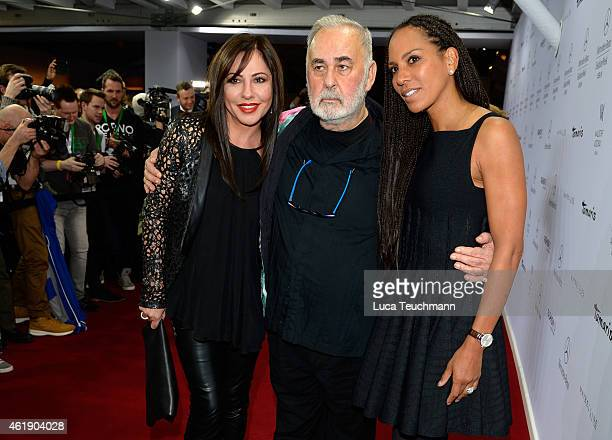 Simone Thomalla Udo Walz and Barbara Becker attend the Guido Maria Kretschmer show during the MercedesBenz Fashion Week Berlin Autumn/Winter 2015/16...