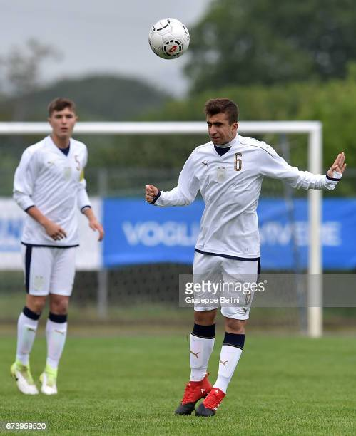 Simone Trimboli of Italy U15 in action during the Torneo delle Nazioni match between Italy U15 and UAE U15 on April 27 2017 in Gradisca d'Isonzo Italy