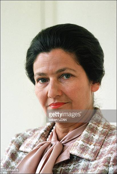 Simone Veil at home in Paris France on April 14 1977