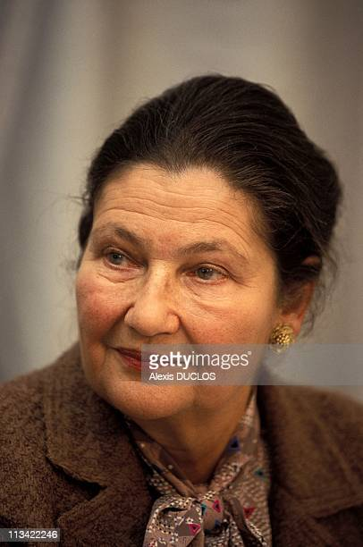 Simone Veil At Press Conference On March 3rd 1993