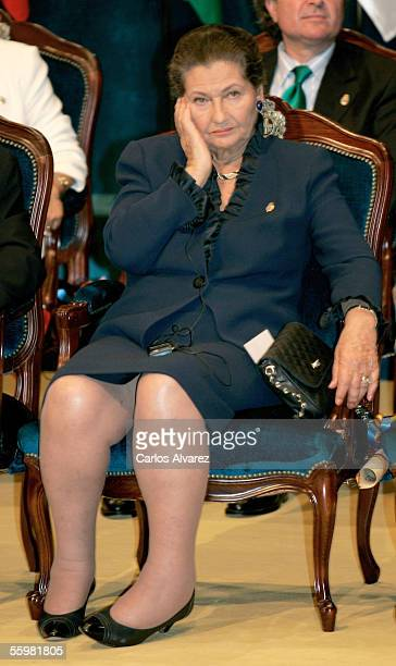 Simone Veil attends the Prince Of Asturias Awards Ceremony on October 21 2005 at Campoamor Theatre in Oviedo Spain