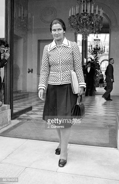 Simone Veil French politician going out of Elysee Paris on 1970's JAC1176237