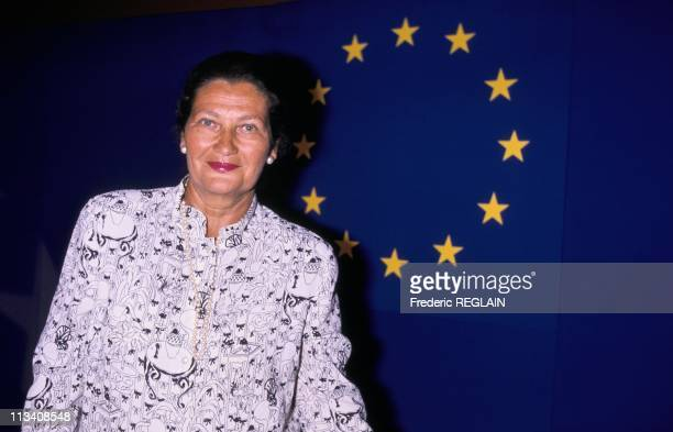 Simone Veil In Lyon On May 21st 1989 In LyonFrance