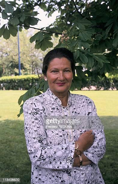 Simone Veil In Lyon On May 21st 1989 In LyonFrance