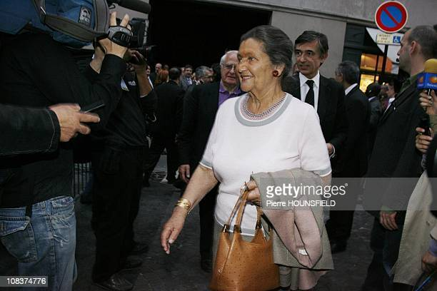 Simone Veil in Paris France on May 06 2007