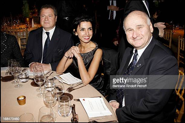 Simone Veil's child with Rachida Dati and Menachem Magidor at The Gala Scopus Award 2007 Organised By L' Universite Hebraique De Jerusalem At Palais...