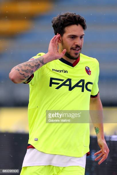 Simone Verdi of Bologna FC celebrates after scoring a goal during the Serie A match between Empoli FC and Bologna FC at Stadio Carlo Castellani on...