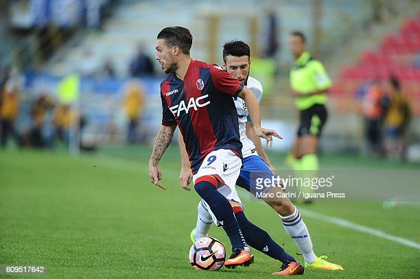 Simone Verdi of Bologna FC in action during the Serie A match between Bologna FC and UC Sampdoria at Stadio Renato Dall'Ara on September 21 2016 in...