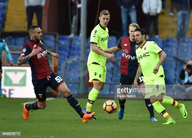 Simone Verdi of Bologna in action during the Serie A match between Genoa CFC and Bologna FC at Stadio Luigi Ferraris on February 26 2017 in Genoa...