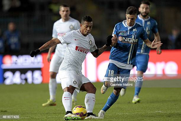 Simone Verdi of Empoli FC battles for the ball with Guarin of FC Internazionale during the Serie A match between Empoli FC and FC Internazionale...