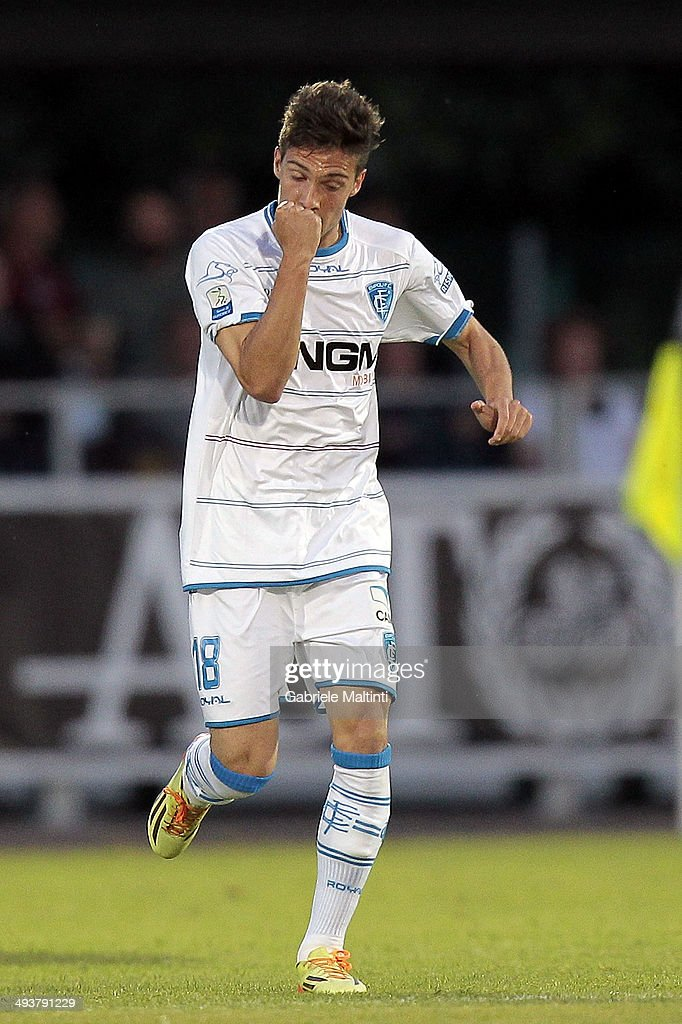 Simone Verdi of Empoli FC celebrates after scoring a goal during the Serie B match between AS Cittadella and Empoli FC at Stadio Partenio on May 25...