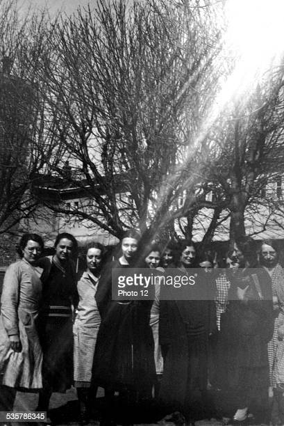 Simone Weil among a group of students of the philosophy class 20th century France Private collection