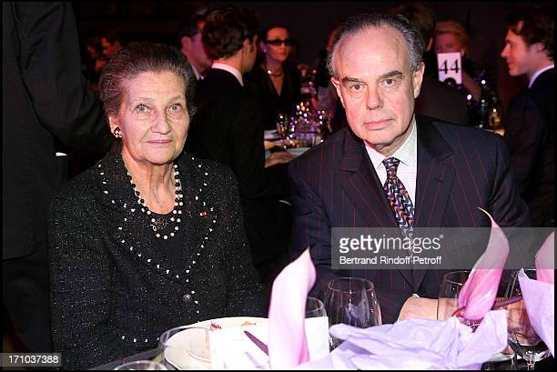 Simone Weil and Frederic Mitterrand at Charity Dinner Celebrating 25 Years Of Support To Reopen L' Ecole Nationale Superieure Des Beaux Arts