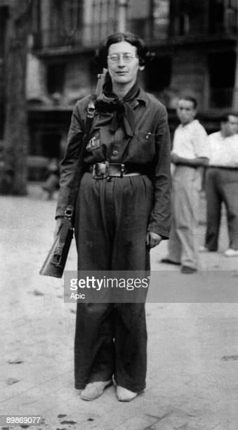 Simone Weil french philosopher here in 1936 during spanish civil war when she was in the Durruti Column