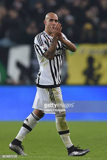 Simone Zaza of FC Juventus is replaced during the TIM Cup match between FC Juventus and Torino FC at Juventus Arena on December 16 2015 in Turin Italy