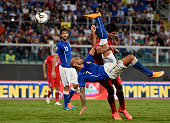 Simone Zaza of Italy in action during the EURO 2016 Group H Qualifier match between Italy and Azerbaijan at Stadio Renzo Barbera on October 10 2014...