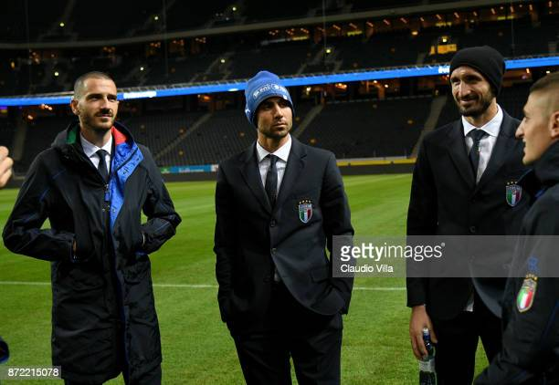 Simone Zaza of Italy looks ok during Italy walk around at Friends Arena on November 9 2017 in Stockholm Sweden
