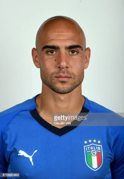 Simone Zaza of Italy poses during the official portrait session at Coverciano on November 6 2017 in Florence Italy