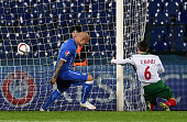 Simone Zaza of Italy scores the first goal during the Euro 2016 Qualifier match between Bulgaria and Italy at Vasil Levski National Stadium on March...