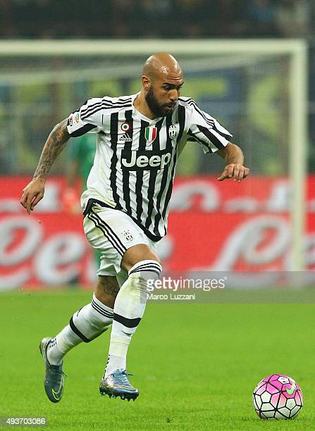 Simone Zaza of Juventus FC in action during the Serie A match between FC Internazionale Milano and Juventus FC at Stadio Giuseppe Meazza on October...