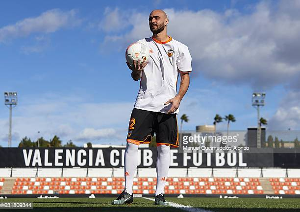 Simone Zaza of Valencia CF during his official presentation as a new player for Valencia CF at Paterna Training Centre on January 16 2017 in Valencia...