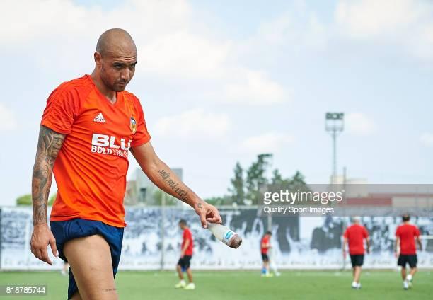 Simone Zaza of Valencia looks on during the preseason training session at Paterna Training Centre on July 19 2017 in Valencia Spain