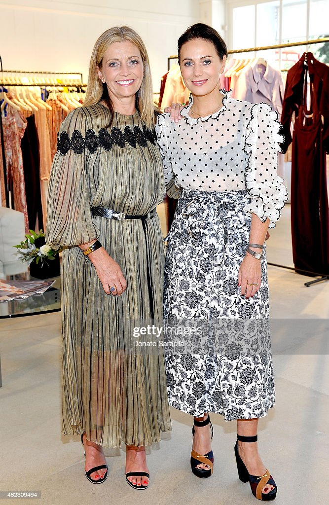 Simone Zimmermann and Nicky Zimmermann host the opening of the ZIMMERMANN Melrose Place Flagship Store on July 29 2015 in Los Angeles California