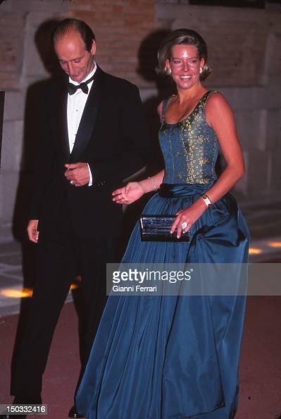 Simoneta Gomez Acebo niece of Spanish King Juan Carlos and her husband Jose Miguel Fernandez Sastron at the wedding of the Infanta Cristina daughter...