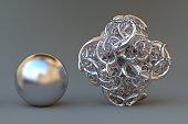 3D render of a fractal.