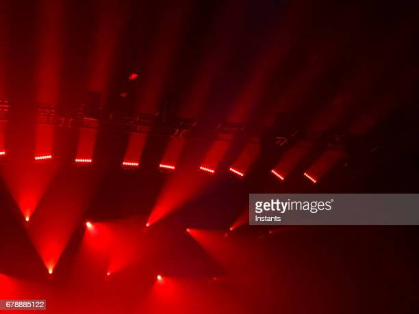Simple and generic show lights, in red tints, as often used for all kinds of artistic performances.