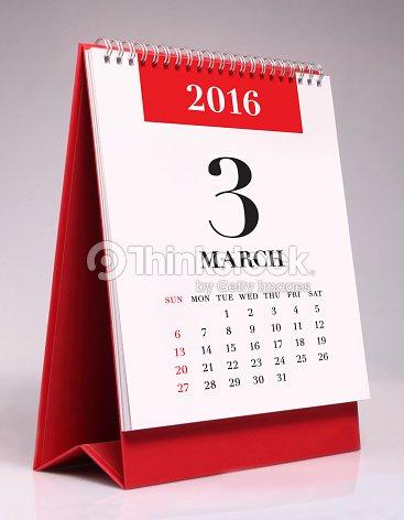 simple desk calendar 2016 march stock photo thinkstock