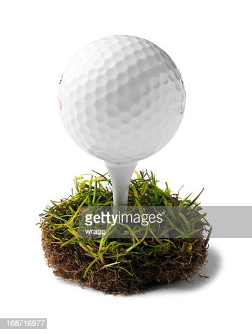 Simple Golf Ball and Tee