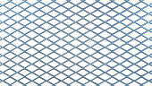 A close-up on a metallic railing in rhomboid shape and isolated on pure white. The image has an 16:9 aspect ratio.