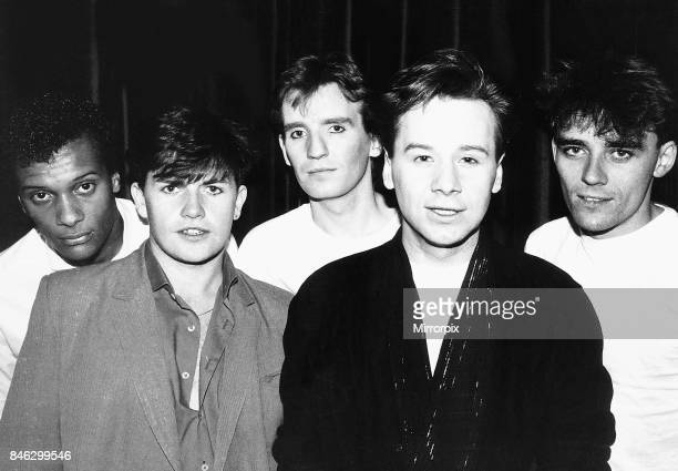 Simple Minds rock band from left Mel Gaynor Charlie Burchill Derek Forbes Jim Kerr and Mick McNeill
