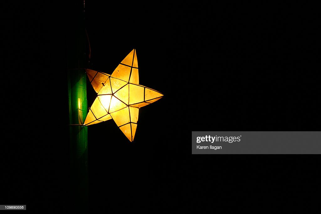 Simple parol lit up at night