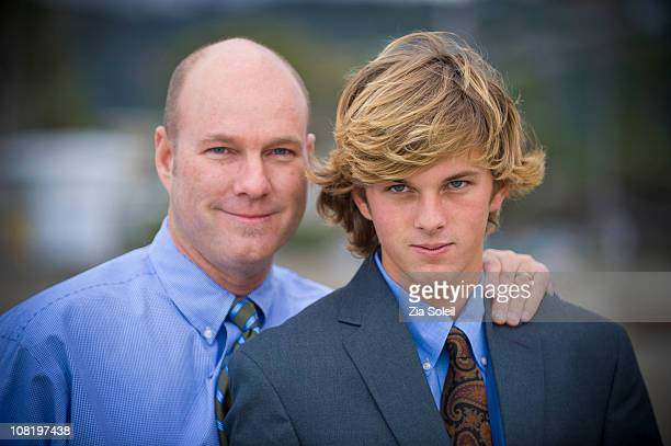 simple portrait, father and son