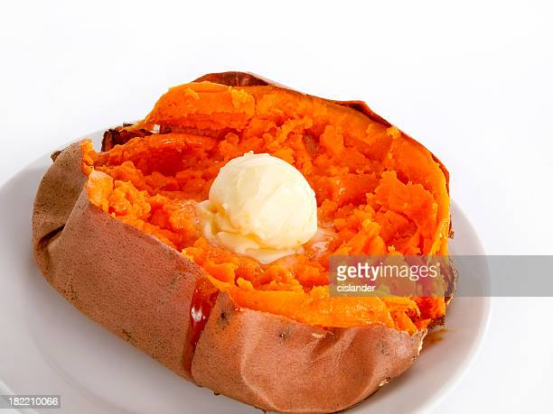 Simple Roasted Sweet Potato with Butter