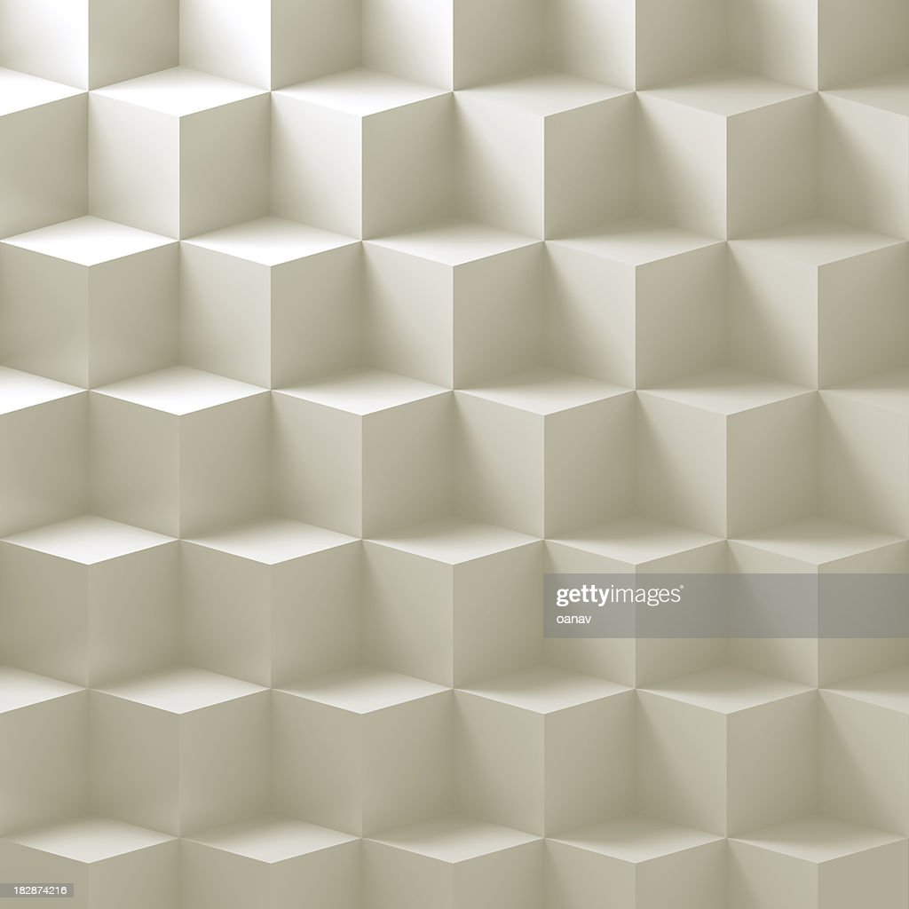 Simple white cubes