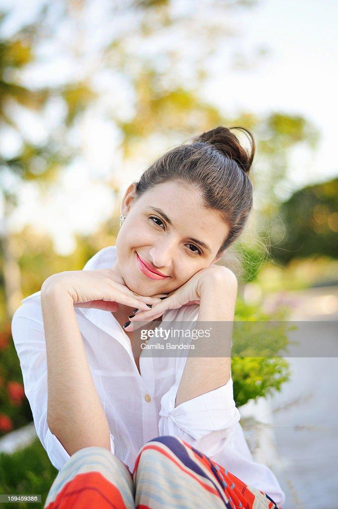 Simple women portrait : Stock Photo