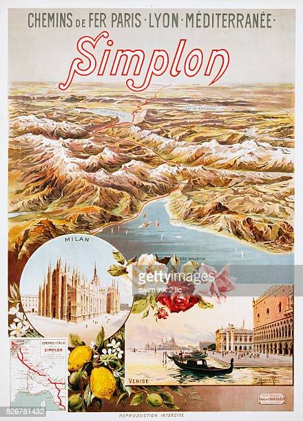 Simplon Poster by Hugo d'Alesi
