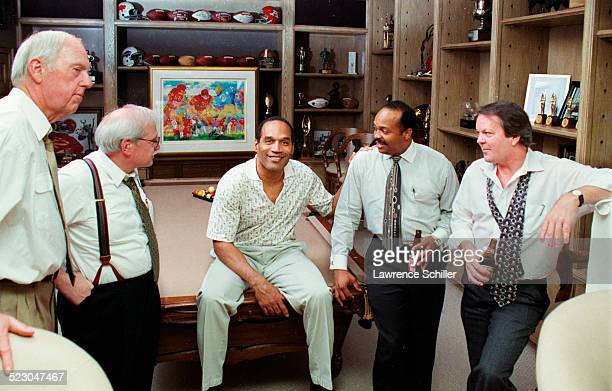 O.J Simpson, after his acquittal, with some members of his defense team. L to