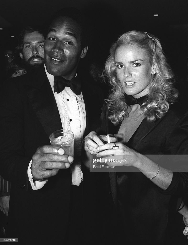 J. SImpson and his wife Nicole Brown Simpson at The Daisy nigthclub circa 1977 in Los Angeles, California. **EXCLUSIVE**