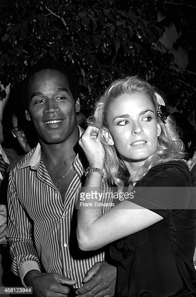 J Simpson and Nicole Brown go to see the play 'Come Blow Your Horn' at Hollywood's Huntington Hartford Theatre in October 1981 in Los Angeles...