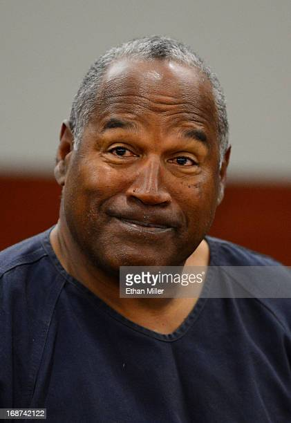 J Simpson appears at an evidentiary hearing in Clark County District Court on May 14 2013 in Las Vegas Nevada Simpson who is currently serving a...