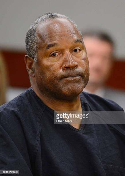 J Simpson appears at an evidentiary hearing in Clark County District Court on May 17 2013 in Las Vegas Nevada Simpson who is currently serving a...