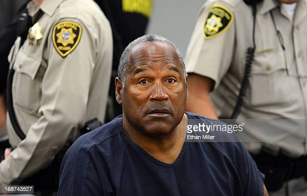 J Simpson appears during a break in an evidentiary hearing in Clark County District Court on May 14 2013 in Las Vegas Nevada Simpson who is currently...