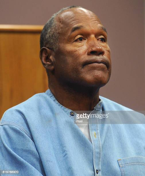 J Simpson attends a parole hearing at Lovelock Correctional Center July 20 2017 in Lovelock Nevada Simpson is serving a nine to 33 year prison term...