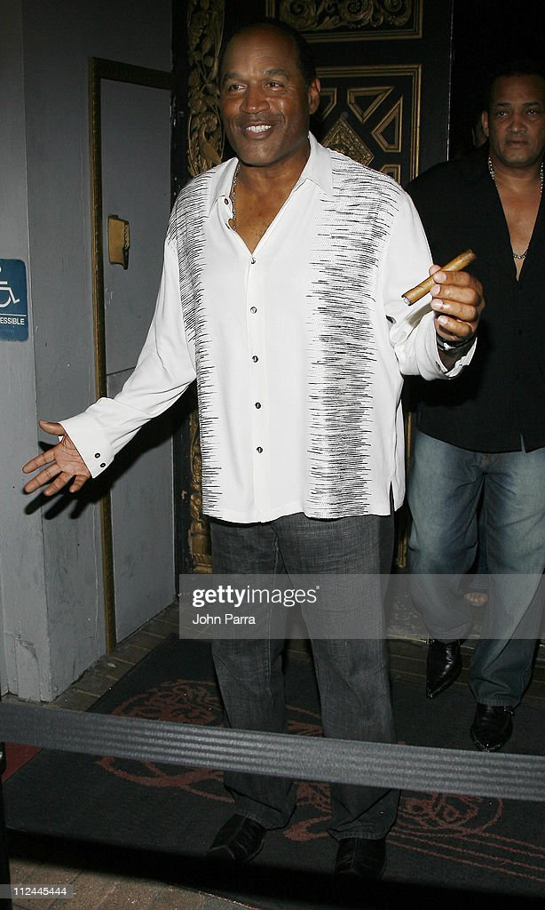 O.J Simpson during DJ Irie Birthday at The Forge - Arrivals at The Forge Restaurant in Miami Beach, Florida, United States.
