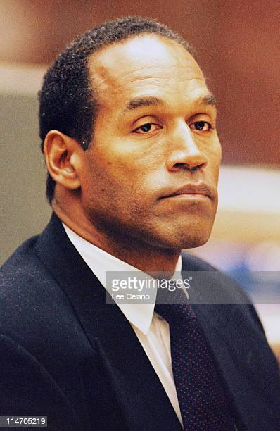 OJ Simpson is shown during testimony in a preliminary hearing following the murders of his exwife Nicole Brown Simpson and her friend Ronald Goldman...